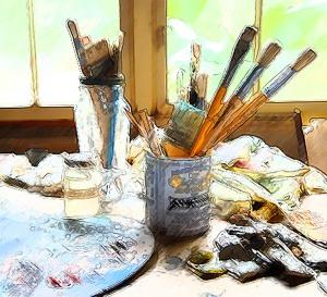 art table dark intensity filter